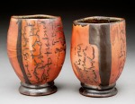 by Maureen Mills Woodfired Stoneware with slip, inlay, resist and glaze