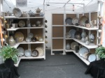 Our booth display at an outdoor craft fair.